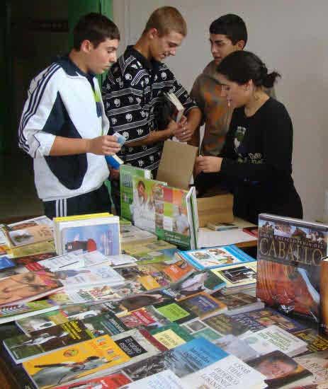 Feria del libro en el instituto