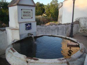 Vuelve a correr el agua en la fuente de María y Miguel