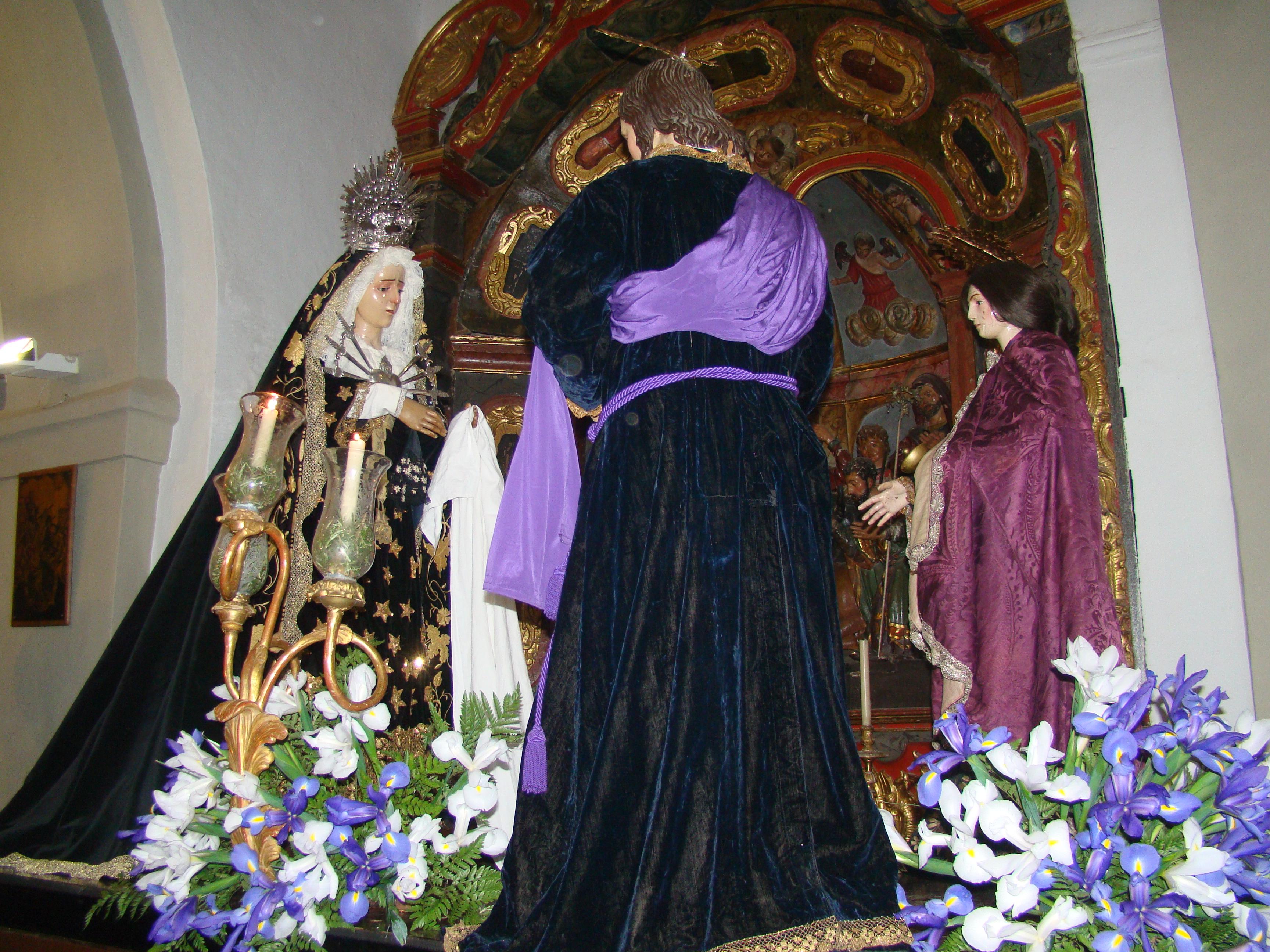 IMÁGENES DE LA PROCESIÓN DEL SEÑOR DE LOS AFLIGIDOS Y LA VIRGEN DE LOS DOLORES